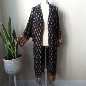 ZARA Boho Kimono Duster Maxi Long | Pockets